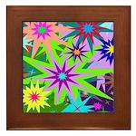 Exploding Stars Graphic Framed Tile