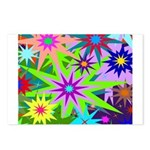 Exploding Stars Graphic Postcards (Package of 8)