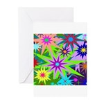 Exploding Stars Graphic Greeting Cards (Pk of 10)