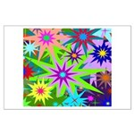 Exploding Stars Graphic Large Poster