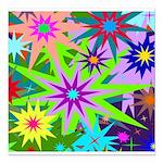 Exploding Stars Graphic Square Car Magnet 3