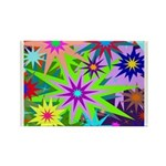 Exploding Stars Graphic Rectangle Magnet (10 pack)