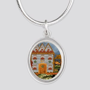 Samhain Cottage Silver Oval Necklace
