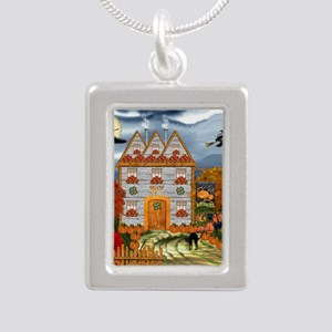 Samhain Cottage Silver Portrait Necklace