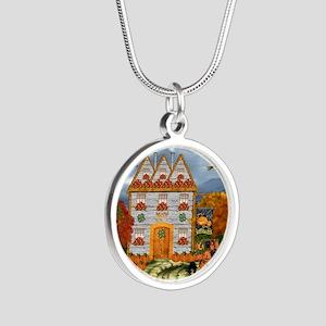 Samhain Cottage Silver Round Necklace
