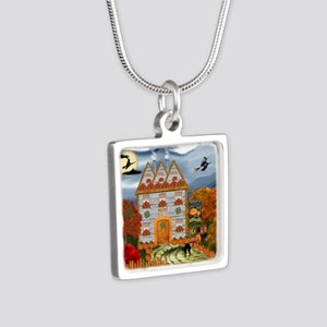 Samhain Cottage Silver Square Necklace