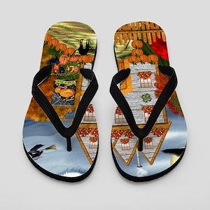 Samhain Cottage Flip Flops