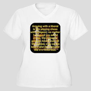 ARGUING WITH A LI Women's Plus Size V-Neck T-Shirt