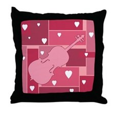 Cello Hearts - Throw Pillow
