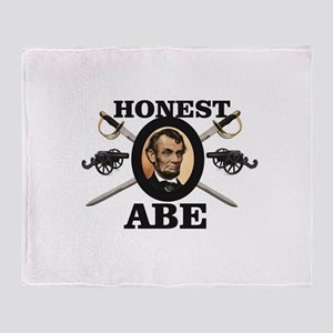 honest abe cannon Throw Blanket