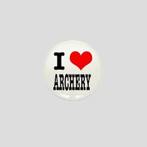 I Heart (Love) Archery Mini Button