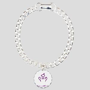 OH NO BURPEES - BLACK Charm Bracelet, One Charm