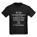 Herding Top Handler Kids Dark T-Shirt