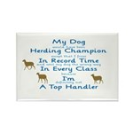 Herding Top Handler Rectangle Magnet (10 pack)
