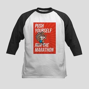 Turkey Run Marathon Runner Poster Baseball Jersey