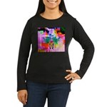 HRHSF Digital Butterfly Women's Long Sleeve Dark T
