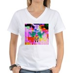 HRHSF Digital Butterfly Women's V-Neck T-Shirt