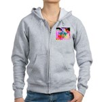 HRHSF Digital Butterfly Women's Zip Hoodie