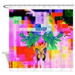 HRHSF Digital Butterfly Shower Curtain