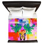 HRHSF Digital Butterfly King Duvet