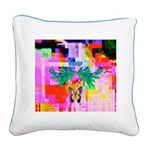 HRHSF Digital Butterfly Square Canvas Pillow