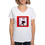 SisterFace Equality Print Women's V-Neck T-Shirt
