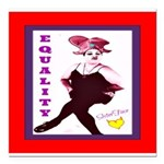 SisterFace Equality Print Square Car Magnet 3