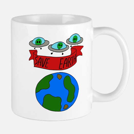 UFOs Save The Earth Mug