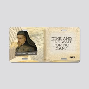 Geoffrey Chaucer Historical Aluminum License Plate