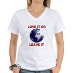 Love It or Leave It Women's V-Neck T-Shirt