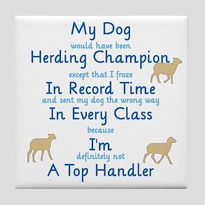 Herding Top Handler Tile Coaster