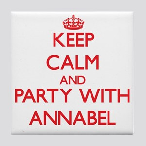 Keep Calm and Party with Annabel Tile Coaster