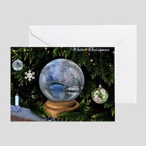 Festive White Christmas Art Greeting Card