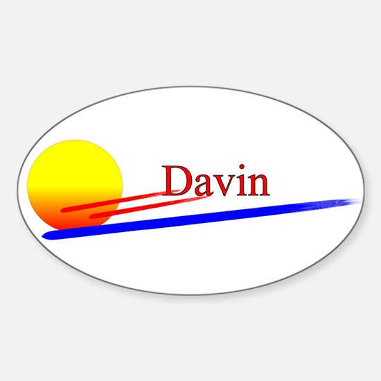 Davin Oval Decal