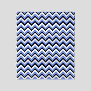Black,Blue, and White Chevrons Throw Blanket