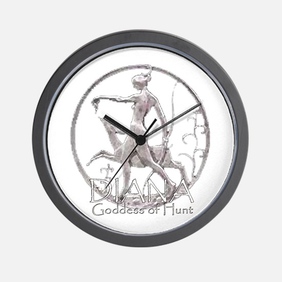 Diana: Goddess of the hunt Wall Clock