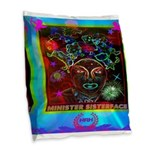 Minister SisterFace Graphic Burlap Throw Pillow