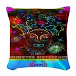 Minister SisterFace Graphic Woven Throw Pillow