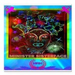 Minister SisterFace Graphic Square Car Magnet 3