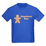Gingerbread Man Kids Dark T-Shirt