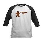 Gingerbread Man Kids Baseball Jersey