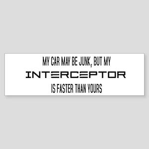 Eve Fast Interceptor Bumper Sticker