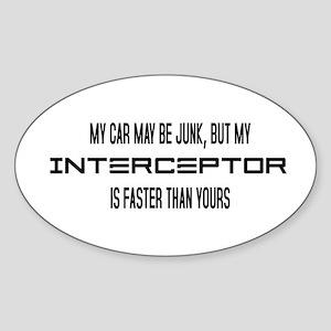 Eve Fast Interceptor Oval Sticker