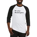 W is for Washington Baseball Jersey