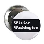 W is for Washington Button