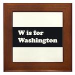 W is for Washington Framed Tile