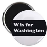 W is for Washington Magnet