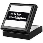 W is for Washington Keepsake Box