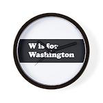 W is for Washington Wall Clock