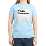 W is for Washington Women's Light T-Shirt